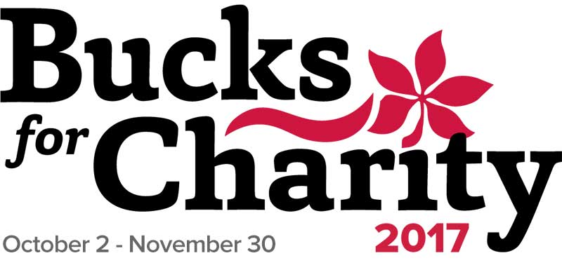 logo, Bucks for Charity - Oct. 2 - Nov 30, 2017