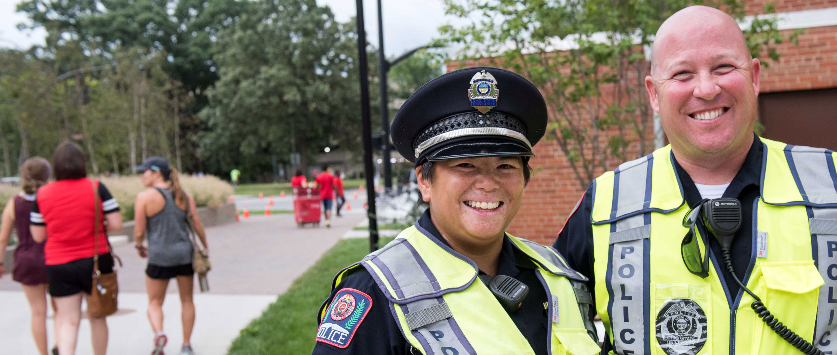 University police officers smiling