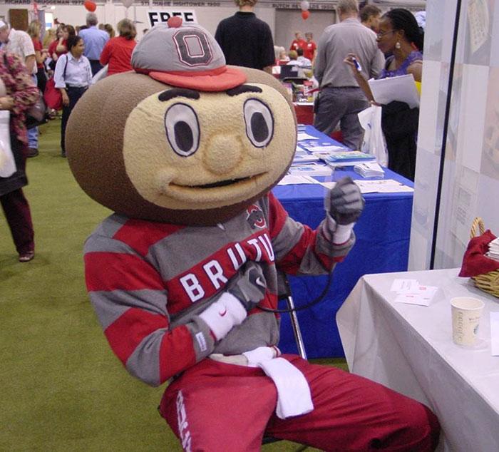 Brutus getting his biometric screening
