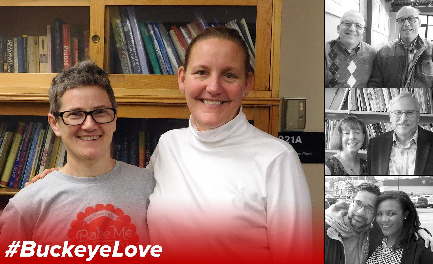 Mollie Blackburn and Mindi Rhoades, the featured couple in this issue of the BuckeyeLove series