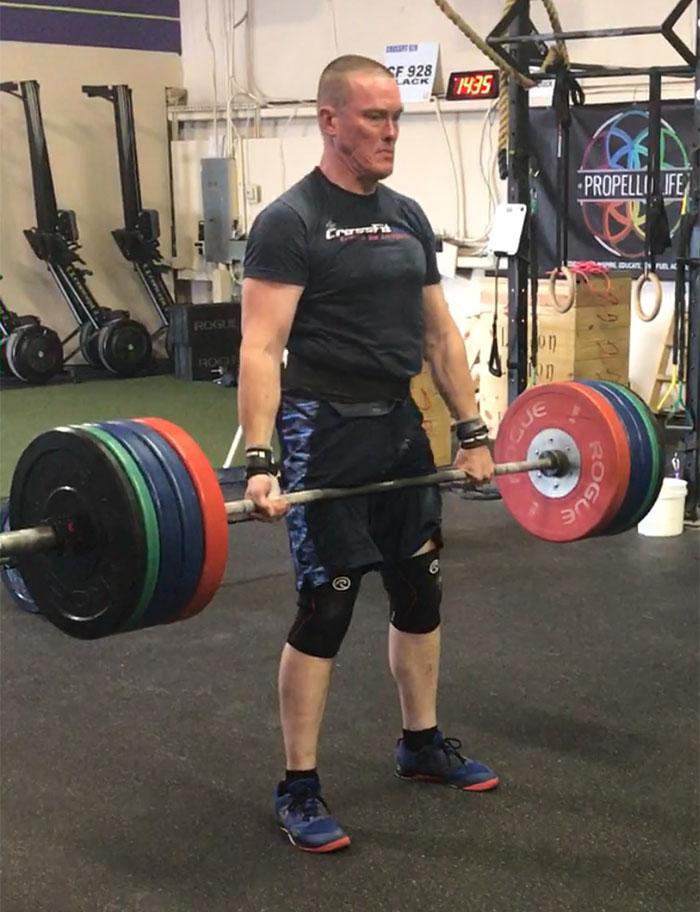 Doug Marshall lifting weights